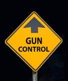 Segno di dibattito del controllo delle armi Immagine Stock Libera da Diritti