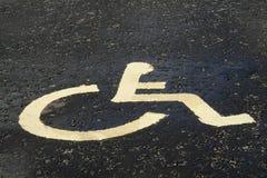Segno di disable della strada immagine stock