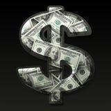 Segno di dollaro americano Fotografia Stock Libera da Diritti