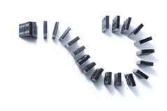 Segno di domanda fatto di dominoe Fotografia Stock