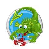 Segno di Dragon Scorpio Zodiac Immagini Stock Libere da Diritti