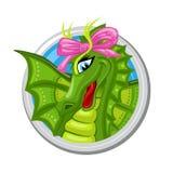 Segno di Dragon Virgo Zodiac Immagine Stock