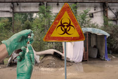 Segno di ebola Fotografia Stock Libera da Diritti