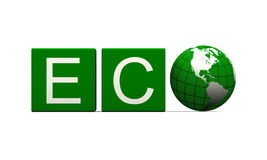 Segno di Eco Fotografia Stock Libera da Diritti