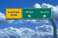 Segno di elezione presidenziale 2008 - elezione 2008 immagine stock libera da diritti