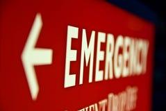 Segno di emergenza Fotografia Stock