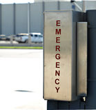 Segno di emergenza Fotografie Stock Libere da Diritti