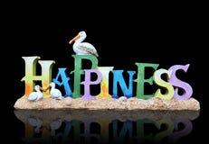 Segno di felicità Fotografia Stock