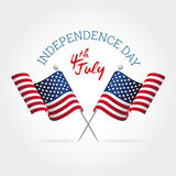 Segno di festa dell'indipendenza Fotografie Stock