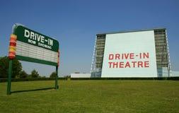 Segno di film del drive-in Fotografia Stock Libera da Diritti