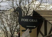 Segno di foie gras, a forma di come un'oca Immagini Stock