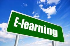 Segno di formazione on-line Immagine Stock