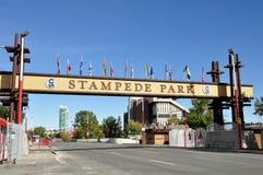 Segno di fuga precipitosa di Calgary Fotografie Stock Libere da Diritti