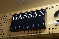 Segno di Gassan Diamonds At Schiphol Airport i Paesi Bassi Immagini Stock