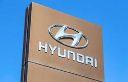 Segno di gestione commerciale di Hyundai immagine stock