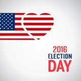 Segno di giorno delle elezioni Immagini Stock