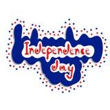 Segno di giorno di indipendenza 4 luglio - Fotografie Stock Libere da Diritti