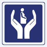 Segno di gravidanza Fotografie Stock Libere da Diritti