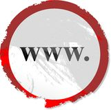 Segno di Grunge WWW Fotografia Stock Libera da Diritti