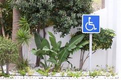 Segno di handicap fotografia stock libera da diritti