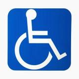 Segno di handicap. Fotografia Stock