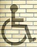 Segno di handicap Fotografie Stock Libere da Diritti