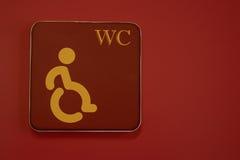 Segno di handicap della sedia a rotelle immagini stock