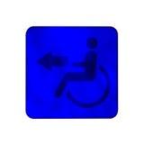 Segno di handicap per la toilette speciale fotografia stock