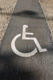 Segno di handicap sulla pavimentazione - Barcellona Spagna immagine stock libera da diritti