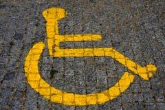 Segno di Handicaped Fotografie Stock Libere da Diritti