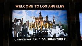 Segno di Hollywood degli studi universali immagini stock