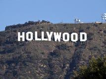 Segno di Hollywood tele Fotografia Stock Libera da Diritti