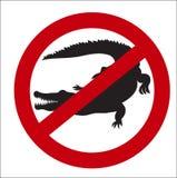 Segno di immagine della proibizione dei coccodrilli illustrazione di stock