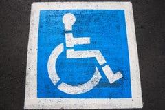 Segno di inabilità Fotografia Stock