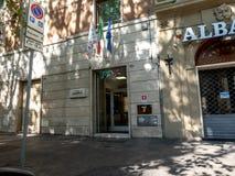 Segno di Inas Cisl dell'italiano fotografia stock libera da diritti