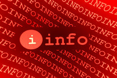 Segno di Info Fotografia Stock