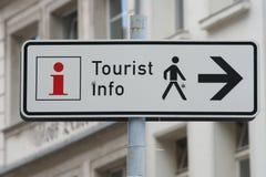 Segno di informazione turistica Immagine Stock