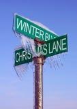 Segno di inverno Fotografia Stock