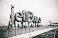Segno di JetBlue Fotografia Stock