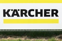 Segno di Karcher su un pannello fotografia stock libera da diritti