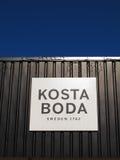 Segno di Kosta Boda Immagini Stock Libere da Diritti