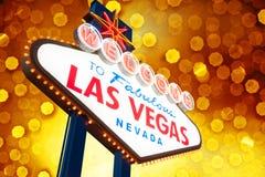 Segno di Las Vegas immagini stock