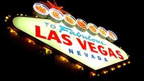 Segno 2 di Las Vegas stock footage