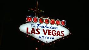 Segno di Las Vegas stock footage