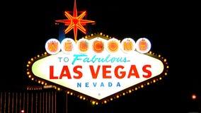 Segno di Las Vegas AMPIO stock footage