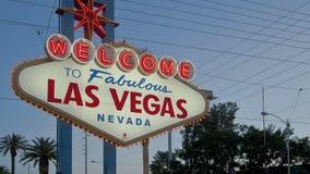 Segno di Las Vegas di lasso di tempo archivi video