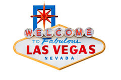 Segno di Las Vegas isolato su bianco Fotografia Stock