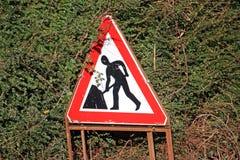 Segno di lavori stradali Immagine Stock
