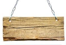 Segno di legno Immagini Stock