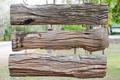 Segno di legno. Fotografia Stock